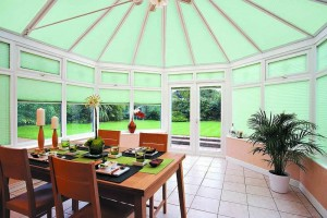 Pleated Conservatory Blinds - Roof & Sides