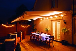 Alfresco Dining at Night Time