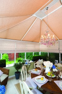 Roller Wood Roof Blinds with Roman Window Blinds