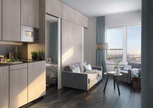 Lehrter Strasse 24, Berlin - 1 Bedroom - 1 Bathroom - Living Room View
