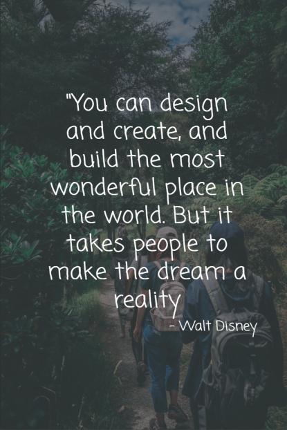 Home quote design and create - Walt Disney