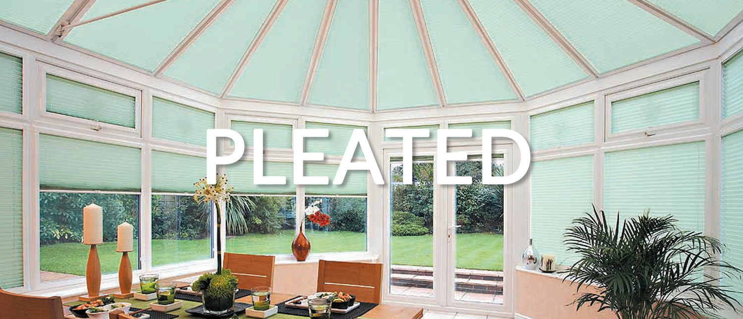 Conservatory Blinds 4 Less  Pleated Roof